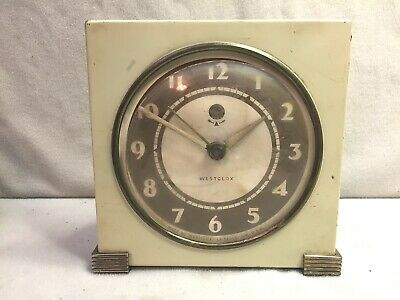 Vtg Country Club Westclox Square3 Alarm Clock Not Working Steampunk Art Parts