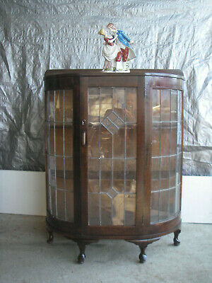 Antique Unique Display  Cabinet Chrystal  Leadlight $200