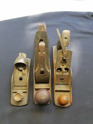 VINTAGE STANLEY WOODWORKING PLANES LOT Of 3 STANLEY BAILEY - No. 3, Pat Dates