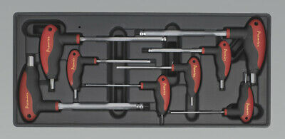 Genuine SEALEY TBT06 | Tool Tray with T-Handle Ball-End Hex Key Set 8pc