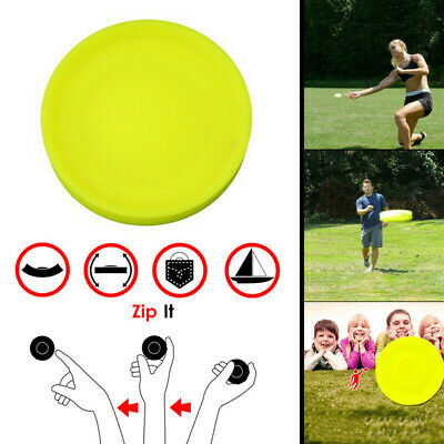 Zip Flying Disc Chip Mini Pocket Flexible UFO Saucer Spin in Catching Game Hea