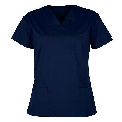 elitecare® Essentials Unisex Scrub Top - Navy