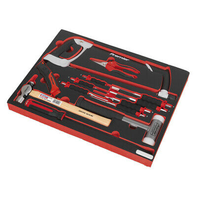 Genuine SEALEY TBTP06UK | Tool Tray with Hacksaw, Hammers & Punches 13pc