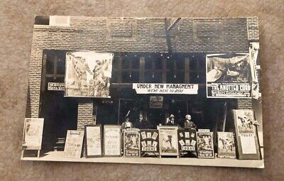 Rare 1915 Rppc Postcard- Arcade Theater-Main Street-Cottage Grove, Oregon