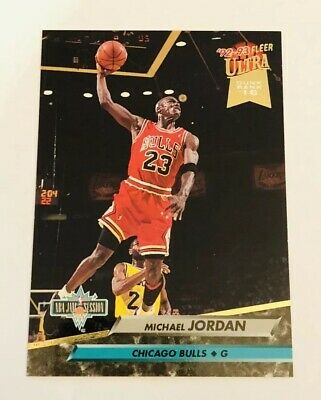 1992-93 92-93 Fleer ULTRA Michael Jordan #216 NBA JAM SESSION DUNK RANK 16 HOF