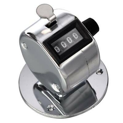 Round Base 4 Digit Manual Hand Tally Mechanical Palm Click Counter with Base US