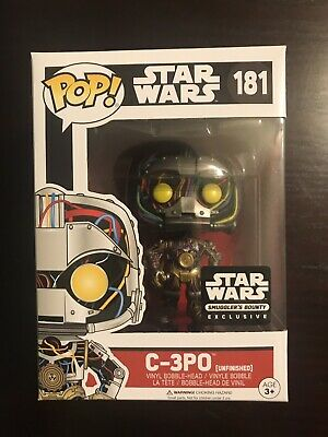 Funko POP! Star Wars #181 C-3PO Unfinished (Smuggler's Bounty Exclusive)