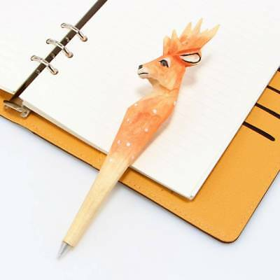DIY Promotion s Student Writing Stationery Wooden Spotted Deer Ballpoint Pen CA