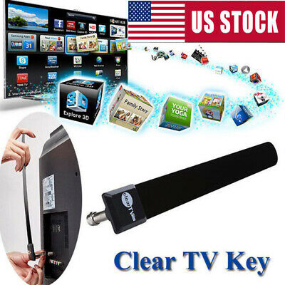 US Clear TV Key 1080p HDTV 100+ FREE HD TV Digital Indoor Antenna Ditch Cable*