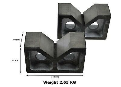 """New Precision Cast Iron Angle Plate 7/""""x 4.5/'/'x 5.5/'/' Inch-Quality Machined Slots"""