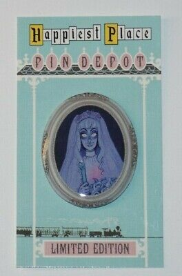 Disney Haunted Mansion 50th Anniversary Attic Bride portrait custom fantasy pin