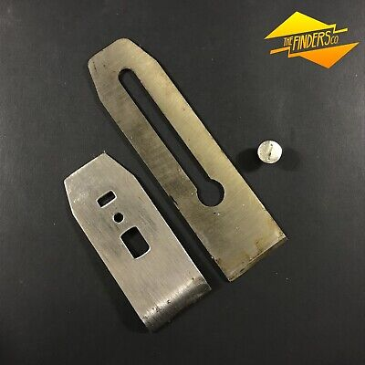 Replacement Plane Blade Iron Chip Breaker & Screw Tool Fit For Stanley No.4 St3