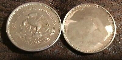 1946-Mo 10 Centavos Struck Through Full Greased Die Reverse Over Eagle 100%
