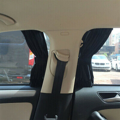 1 Pair Car Side Window UV Protection Sun Shade Curtains Visor Mesh Shield Cover
