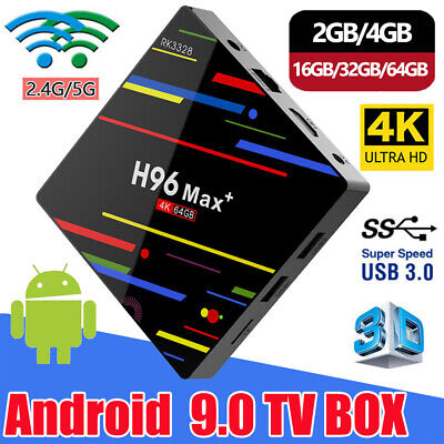 H96 Max+ Android 9.0 Smart TV Box 2+16G 4+64G Quad Core 4K 3D WIFI Media Player