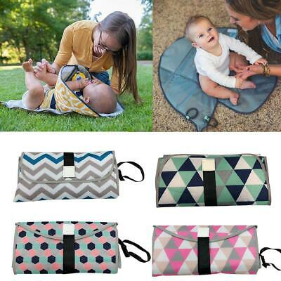 Portable Baby Changing Pad Diaper Clutch Travel Station Detachable Wipeable Mat
