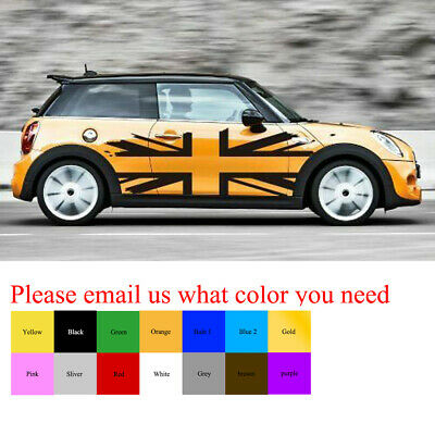 Universal Mini Cooper Side Body Stripes Decor Sticker Decals Graphics