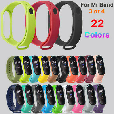 For Xiaomi Mi Band 4 3 Silicone Wrist Strap Bracelet Replacement Wristband Band