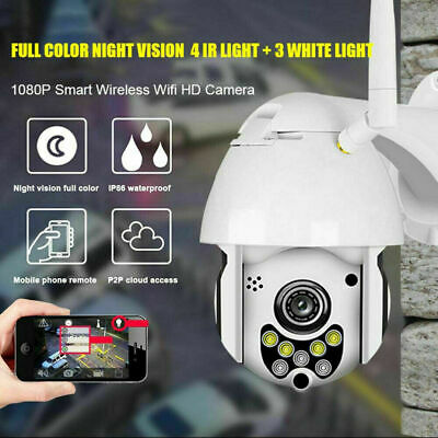 HD 1080P Wireless Outdoor IR CCTV PTZ WIFI IP Camera Dome Home Security 4X Zoom