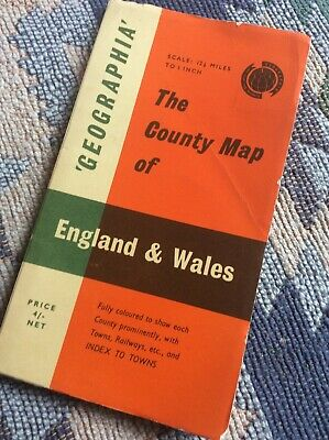 Geographia. Vintage County Map Of England And Wales