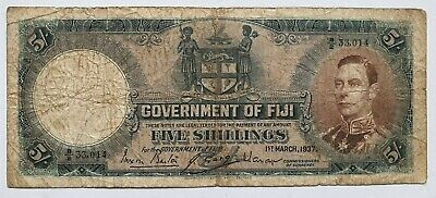 Fiji 5 shillings 1st March 1937 George VI WW2 era