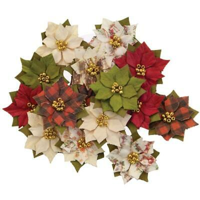 Prima Marketing - Mulberry Paper Flowers - Wonderland/Christmas In The Country