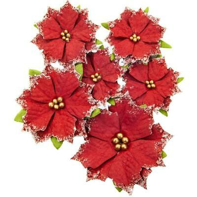 Prima Marketing - Mulberry Paper Flowers - Christmas Cheer/Christmas In The C...