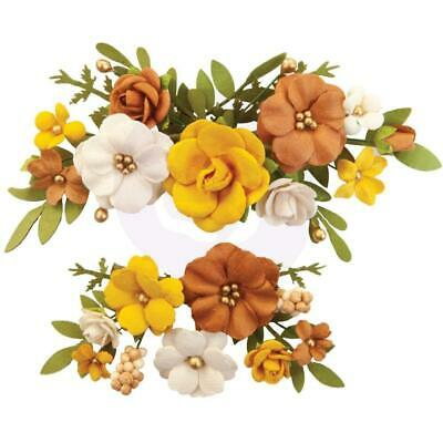 NEW Prima Marketing - Mulberry Paper Flowers - Falling Leaves/Autumn Sunset