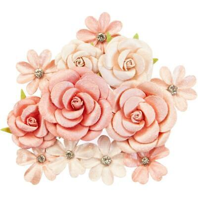 NEW Prima Marketing - Mulberry Paper Flowers - Sweet Apricot/Apricot Honey