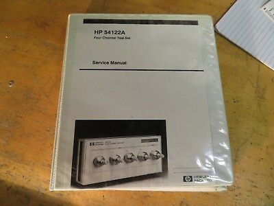 HP 54122A Four channel test set service manual 4310 M