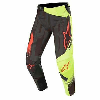 Alpinestars Techstar Factory Mens Pants Moto - Black Yellow Fluo Red All Sizes