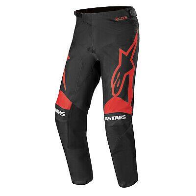 Alpinestars Racer Supermatic Mens Pants Moto - Black Bright Red All Sizes