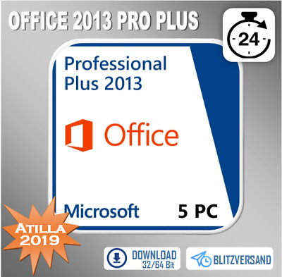 MS Office 2013 Professional Plus, Pro Plus 1/5PC 32&64 Bits, Direkt per E-Mail