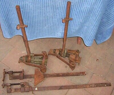 Vintage FLOOR CLAMPS (Dogs) Timber Floor tool - Bar Clamps