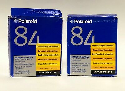 ULTRA RARE Polaroid 84 Square Instant Film 2 PACKS Packfilm COLD STORED Exp 2008