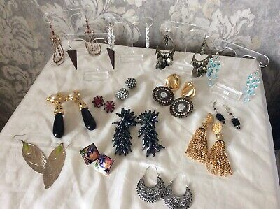 Vintage Retro Kitch Collection Job Lot Bundle Earrings