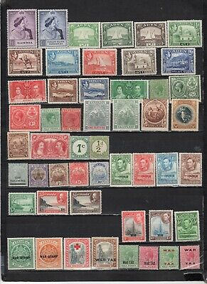 British Colonies - GB  collections  Lot Of Early Unused H - LH - HStamps (GBL8)