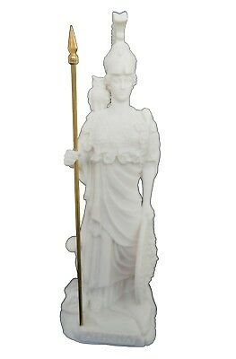 Athena statue ancient Greek Goddess of wisdom and strategy active sculpture