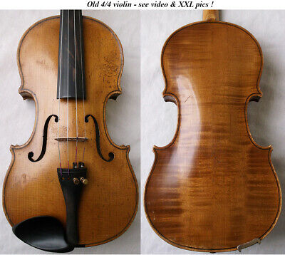 FINE OLD VIOLIN 1940  - see VIDEO - ANTIQUE VIOLINO バイオリン master скрипка 小提琴 791