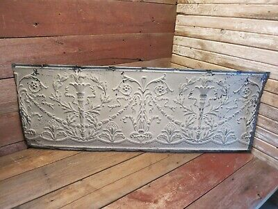 "Vintage Antique Metal Tin Ceiling Tile 48""X18"" Reclaim Salvage Tile Victorian!"