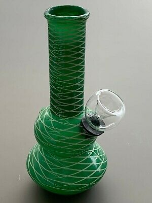 "5"" Green Glass Tobacco Pipe - Solid or Striped - Glass Hookah Tobacco Pipe"