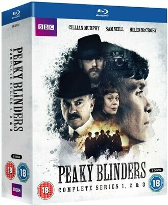 Peaky Blinders: The Complete Series 1-3 (BBC) (BLU-RAY 6 DISC BOX SET) *NEW*
