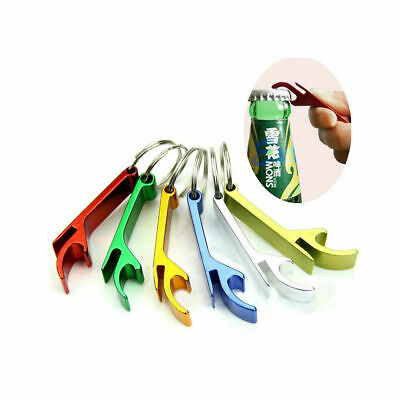 2 Pcs Bottle Opener Key Ring Chain Keyring Keychain Metal Beer Bar Tool Claw