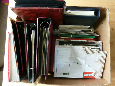 COMMONWEALTH HUGE STAMP COLLECTION, 7x OLD ALBUM/PKTS/COVERS, LARGE BOX~355 PICS