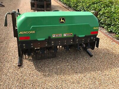 John Deere Aercore 1500 tractor mounted aerator with extra accessories