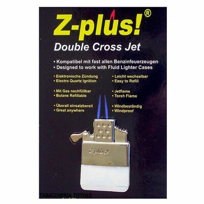 NEW Z-Plus DOUBLE Jet Torch flame Butane Replacement Insert For Petrol Lighters
