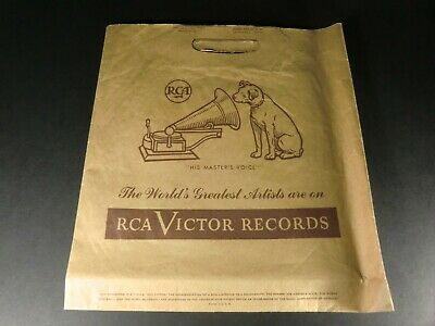RCA Victor - Brown Paper Bag - phonograph record shopping sack - Vintage