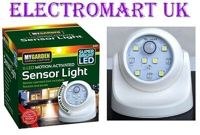 Super Bright 6 Led Motion Activated Indoor Outdoor Sensor Light Night Light