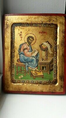 Byzantine Orthodox Christian Russian Greek painted icon picture plaque