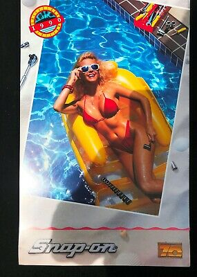 Lot of 8 Snap-On Tools Vintage Swim Suit Pin Up Girl Collectible Calendars